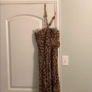 Adrianna Papell stunning leopard cocktail dress